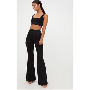 Black High Waist Extreme Flare Pants (PLT)